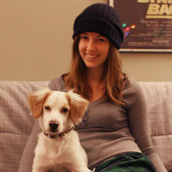 Kei and her dog Ben, adopted from Puppy Paws Rescue Maryland