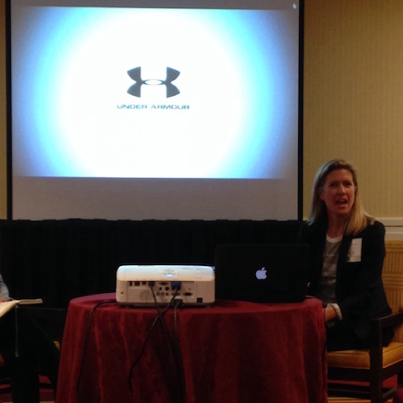 UnderArmour Vp Heidi Sandreuter at Entrepreneur Expo