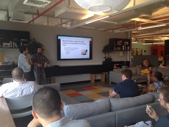 SmartLogic Lunch and Learn at Betamore about Hiring a software development team