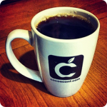 The famous CocoaConf mug