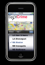 SpotCrime iPhone webapp: City Selector View