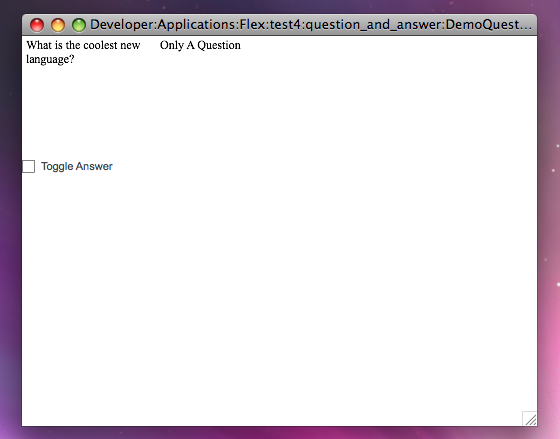 DemoQuestionAnswer Screenshot Checkbox not selected