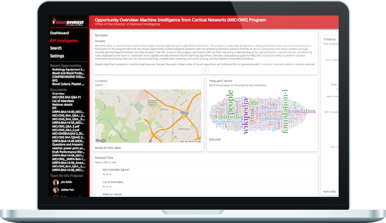 RedShred RFP Intelligence View
