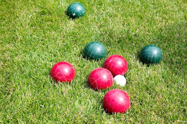 bocce balls on a field